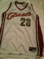 Lebron James Cleveland Cavs Cavaliers  Home White Jersey  Faded Medium+2 Length