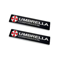 2pcs UMBRELLA Corporation Emblem Auto Aufkleber METALL Resident Evil Logo