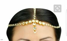 Indian Gold Plated Matha Patti 3 Line  Hair Harness Head Fashion Jewelry