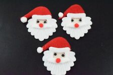 6 Father Christmas / Santa Embellishments, Card Making, Craft, Scrapbooking