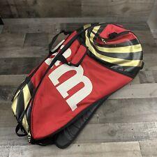 Wilson Team Blx Tennis Backpack Racket Bag Black Red 9 Racquet Case