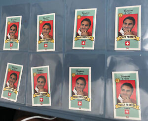 2003-04 Campioni di Futuro Roger Federer #54 (8 Card Rookie Lot) Rc Mint Sky Red