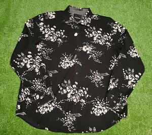 Tommy Bahama Men's Modern Fit Black Floral 100% Cotton LS Shirt Size 2XL NWOT