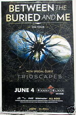 """Between The Buried And Me / Trioscapes """"On Tour"""" 2015 San Diego Concert Poster"""