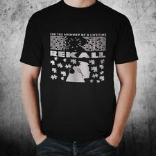 New Rekall T-Shirt  Inspired By Total Recall 1980s Movie Black T-Shirt