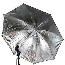 "US SELLER ~ 33"" 83cm Photography Light Photo Studio Video Black Silver Umbrella"