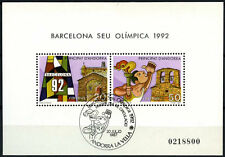 Andorra Spanish 1987 SG#MS194 Olympic Games Cto USed M/S #D59355