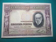 BILLETE DE  50 PESETAS DE 1935 SIN SERIE