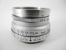 LEICA 3.5 SUMMARON SCREW MOUNT WITH E-39 FRONT FILTER RING FAIRLY UNCOMON NICE