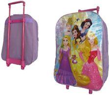 DISNEY PRINCESS TROLLEY BACKPACK CABIN BAG KIDS GIRLS SUITCASE PINK GIRLS