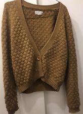 American vintage Wool Sweater S Brown Tan USED