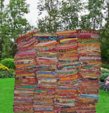 Indian Vintage Reversible Kantha Quilt Throw Handmade Blanket Wholesale Lot 1 pc