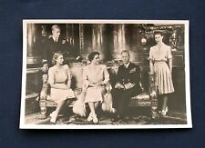 Vintage Postcard of George VI and the Royal Family C1947