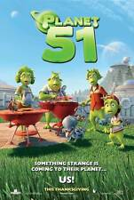 PLANET 51 Movie POSTER 27x40 Dwayne Johnson Jessica Biel Justin Long Gary Oldman