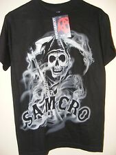 NEW SOA Sons of Anarchy Mens SAMCRO Reaper Motorcycle Club Shirt - LARGE - L10