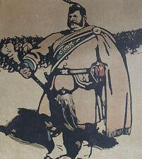 William Nicholson 1898 Types de Londres London Le Tambour-Major Drum-Major