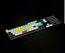 Logic Keyboard Astra Series Avid Media Composer Mac Backlit Keyboard With Lights