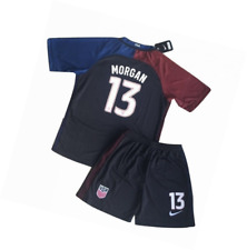 2016-2017 Alex Morgan #13 USA National Away Jersey and Shorts for Kids/Youth (Ag