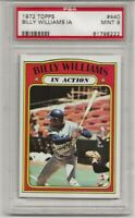 1972 TOPPS #440 BILLY WILLIAMS IN ACTION, PSA 9 MINT, HOF, CHICAGO CUBS,  L@@K !