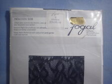 Fogal Style 508 Patachou Seamed Pantyhose with Lace Garter Size Small in Marine