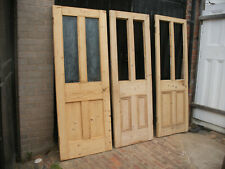 More details for reclaimed victorian four panel stripped pine doors. glazed / for glazing