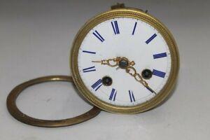 010Z) Altes franz. Uhrwerk mit Fadenaufhängung Pendule Kaminuhr Paris um 1890