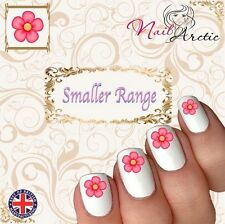 40 x Nail Art Water Transfers Stickers Wraps Pink Pretty Flower Children's