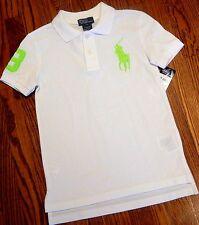 POLO RALPH LAUREN ORIGINAL BOYS BRAND NEW AUTHENTIC WHITE DRESS T-SHIRT Sz 7 NWT