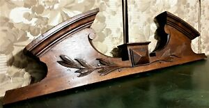 Victorian decorative wood carving pediment Antique french architectural salvage