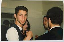 Vintage 1990's PHOTO Man With 5 O'clock Shadow Beard Looking At The Camera