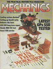 Mech May 84 Kawasaki GPz550 Honda MBX125F Suzuki GSX550 Sidecar test