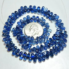 Gem Kyanite Faceted Teardrop Briolette Beads 16 inch Strand