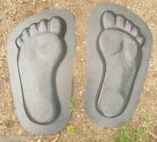 "Feet footprint plastic molds plaster concrete resin moulds 13""L x 7"" x 1"" thick"