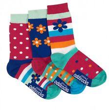 United Oddsocks Daisy Size 12 - 5.5 Floral Sock Fun Odd Socks Mismatched Girls