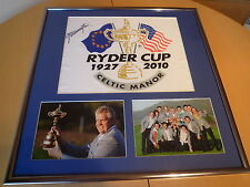 Signed Colin Montgomorie signed Pin Flag framed display - 2010 Ryder Cup Winner