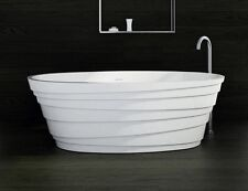 Free Standing Solid Surface Stone Resin Matte Bathtub 71 x 33 inch - SW-150