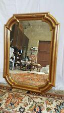 Antica specchiera Francese Luigi Filippo in foglia oro e argento 90x50