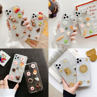 Cute 3D Snacks Transparent Phone Case For iPhone 11 Max XR 6s 7 8 Plus SE 2020