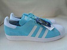 Adidas Superstar Primeknit Entrenadores Azul/Blanco Talla 11 Reino Unido Para Hombre. nuevo con etiquetas