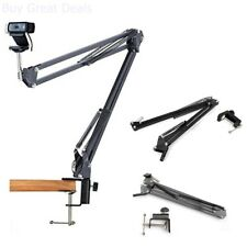 Desk Clamp Mount Suspension Boom Scissor Arm Tripod Stand Holder Webcam Camera