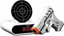 Fun Gift! Laser Target Alarm Clock Sharper Image Blast Away Those Morning Blues!