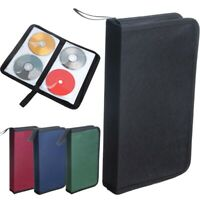 NEW 80 Sleeve CD DVD Blu Ray Disc Carry Case Holder Bag Wallet Storage Case