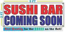 SUSHI BAR COMING SOON Banner Sign NEW 2x5