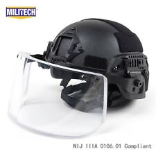 BK M/LG Bullet Proof LVL IIIA Ballistic KEVLAR Full Cut OPS Helmet + Visor Deal