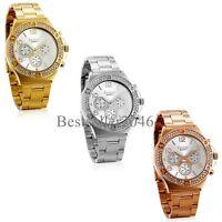 New Luxury Women Ladies Girl Stainless Steel Band Analog Quartz Wrist Watch