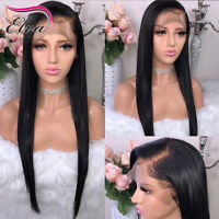 Eva Hair Straight Lace Front Human Hair Wigs For Black Women Pre Plucked Hairlin
