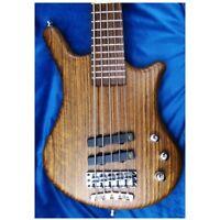 Warwick Pro Series Thumb Bolt On 5-String Bass Guitar w/ Gig Bag Natural Satin