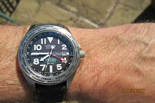 CITIZEN ROYAL NAVY MARINES COMMANDO GMT DIVER'S 300M TITANIUM ECO DRIVE BOXED