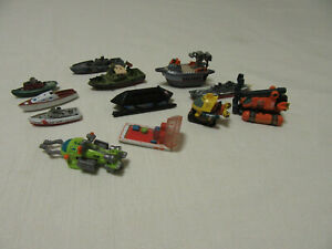 BULK LOT OF 12 LGT1,GALOOB,LGT MICRO MACHINES BOATS,SUBMARINE AND OTHER VESSELS