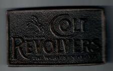 "Vintage Colt Revolvers Brass Belt Buckle 4 x 2 1/2 """